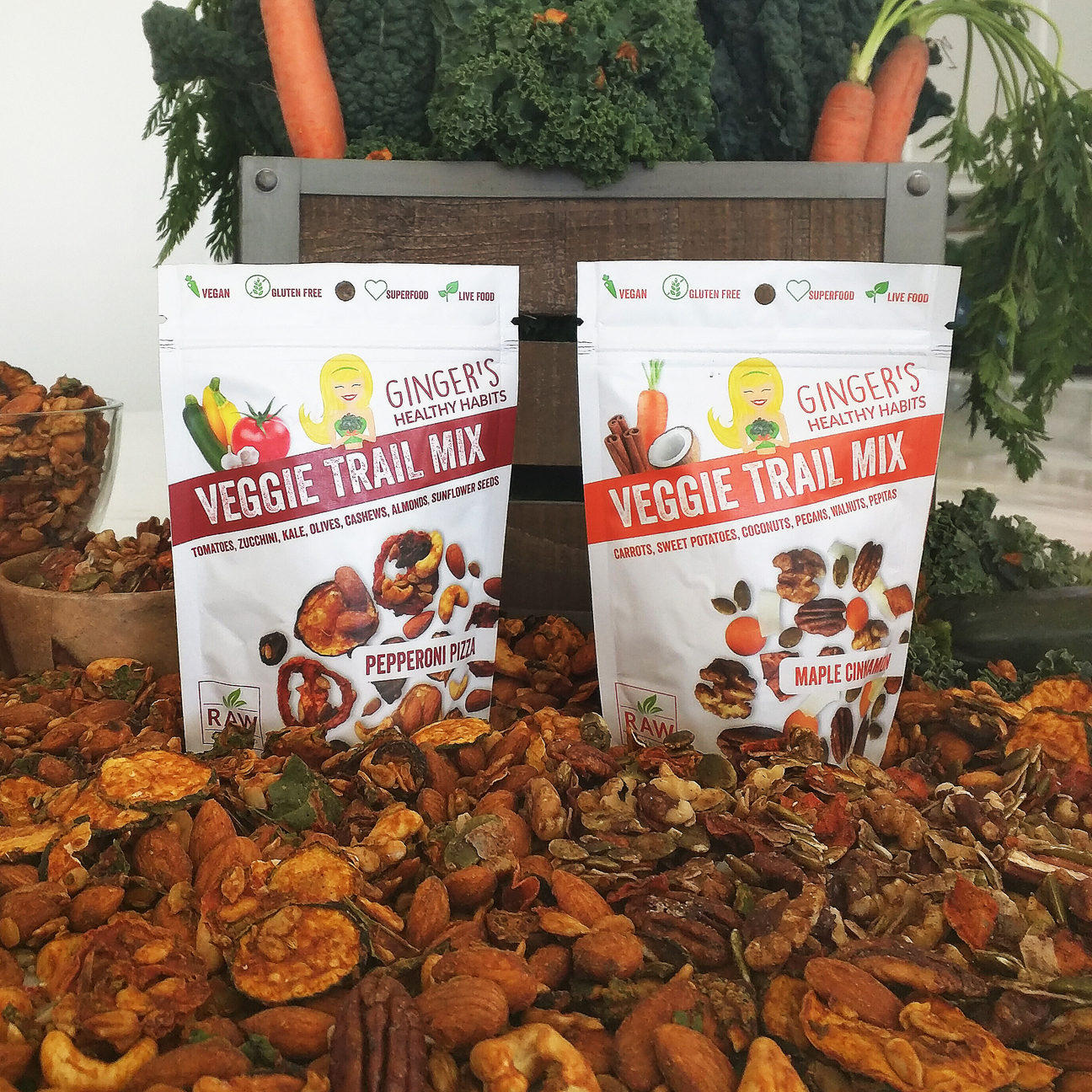 GINGER'S HEALTHY HABITS DEBUTS FIRST VEGGIE TRAIL MIX AT 2016 NATURAL PRODUCTS EXPO WEST