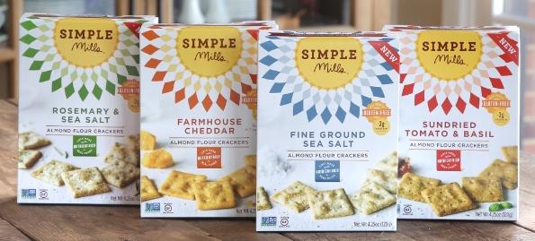 Simple Mills Launches Gluten-Free Almond Flour Cracker Line (PRNewsFoto/Simple Mills)