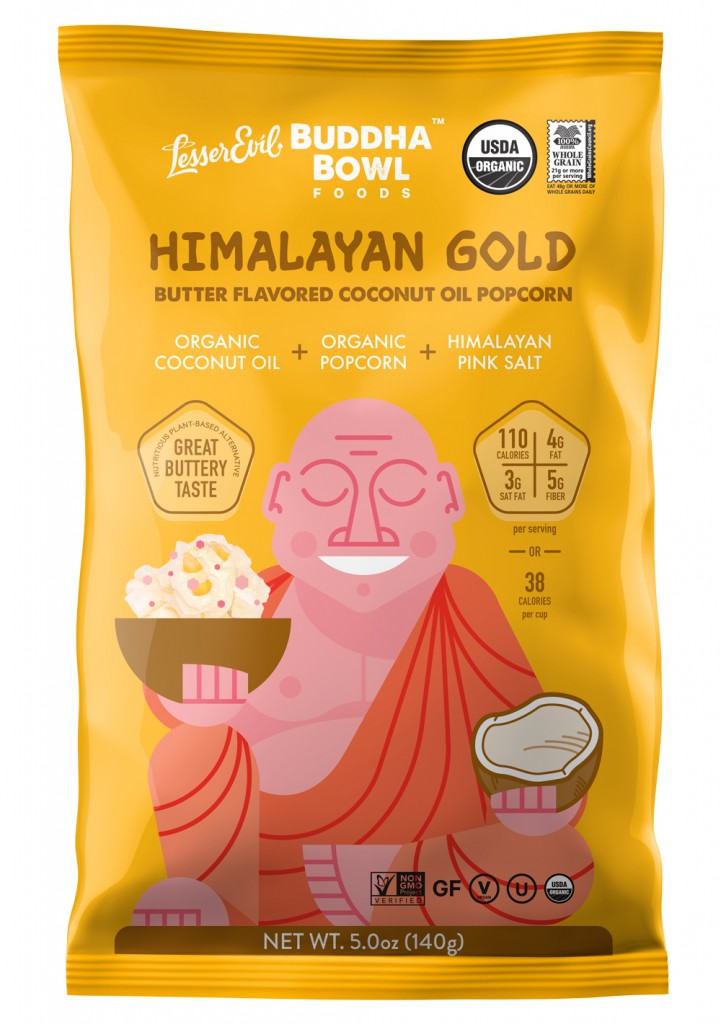 LesserEvil Healthy Brands launches new Himalayan Gold Popcorn at Expo East!