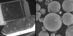 Sugar crystals appear as shown on the right, allowing your tongue to taste the same level of sweetness while consuming less sugar.