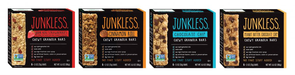 Simply Eight Debuts Two New Flavors of JUNKLESS® Chewy Granola Bars