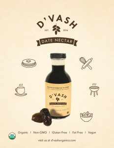 D'vash Organics Launches Local Ogranic Date Nectar from Los Angeles Great Vegan Alternative to Honey