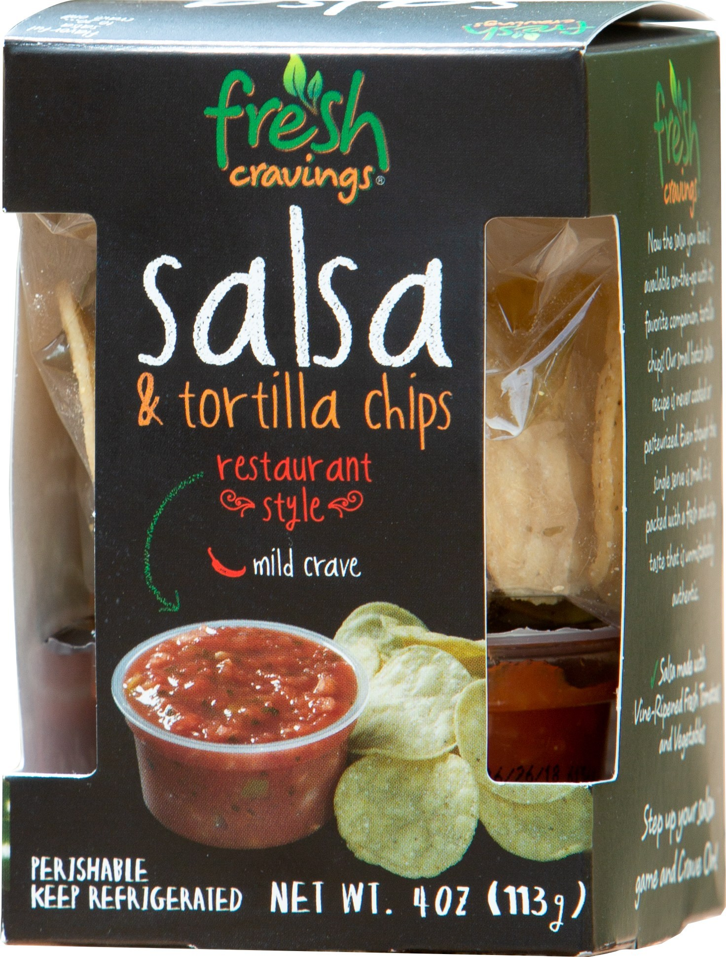 Salsa and Tortilla Chips Snack Packs