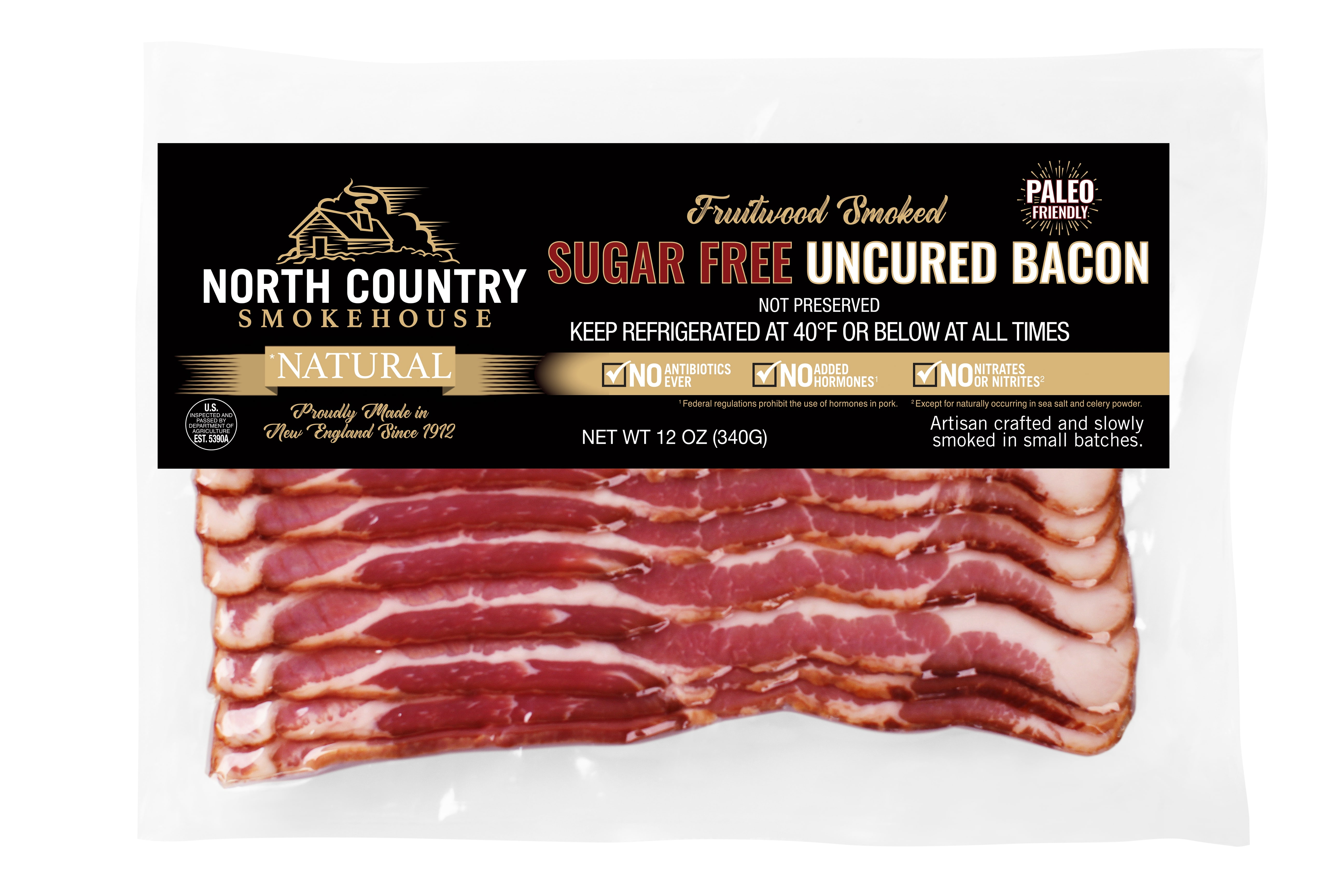 North Country Smokehouse Launches New Line of Sugar-Free Bacon