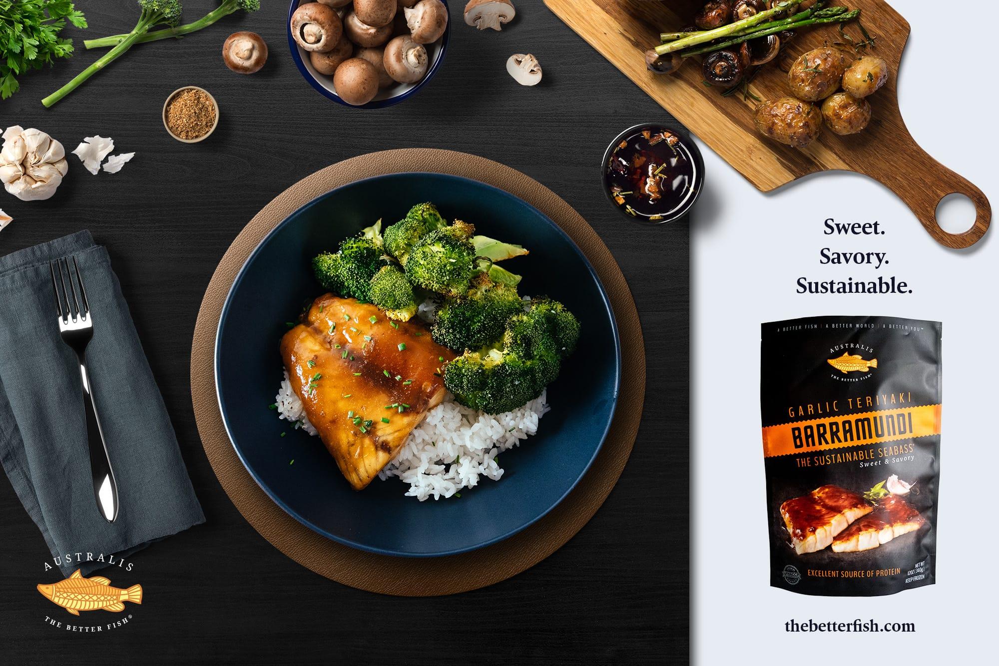 Australis debuts Garlic Teriyaki Barramundi to its retail line with Whole Foods Market
