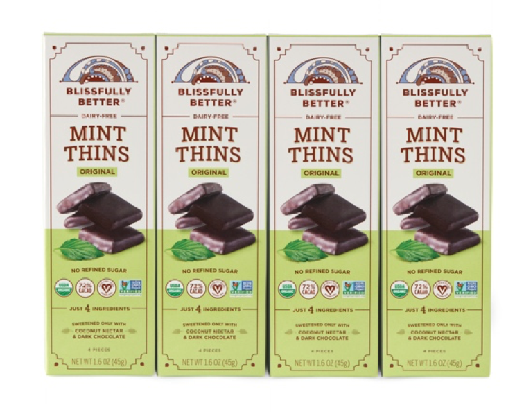 Blissfully Better, A Better-for-You Confections Brand, Expands with Classic Mint Variety of Its Signature Thins
