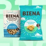 Biena Launches Chickpea Puffs and New Look