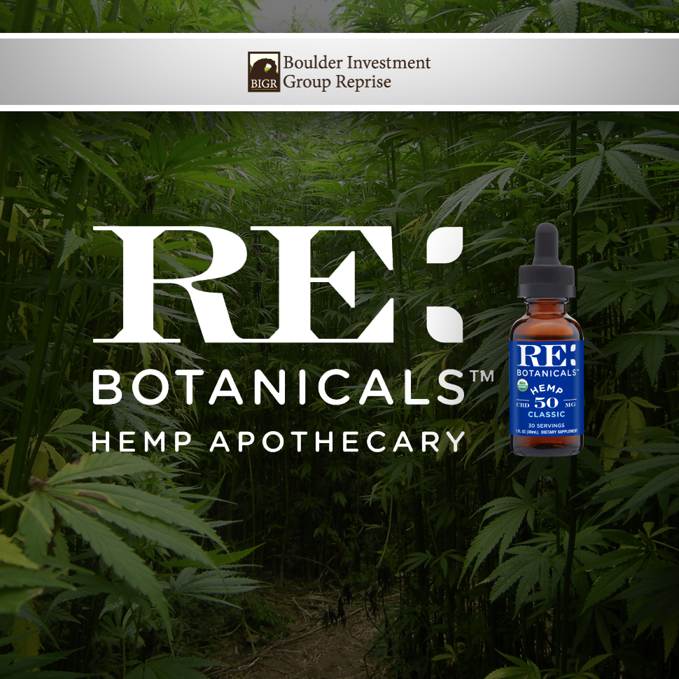 With BIGR Backing, RE Botanicals Wants to Make CBD Mainstream