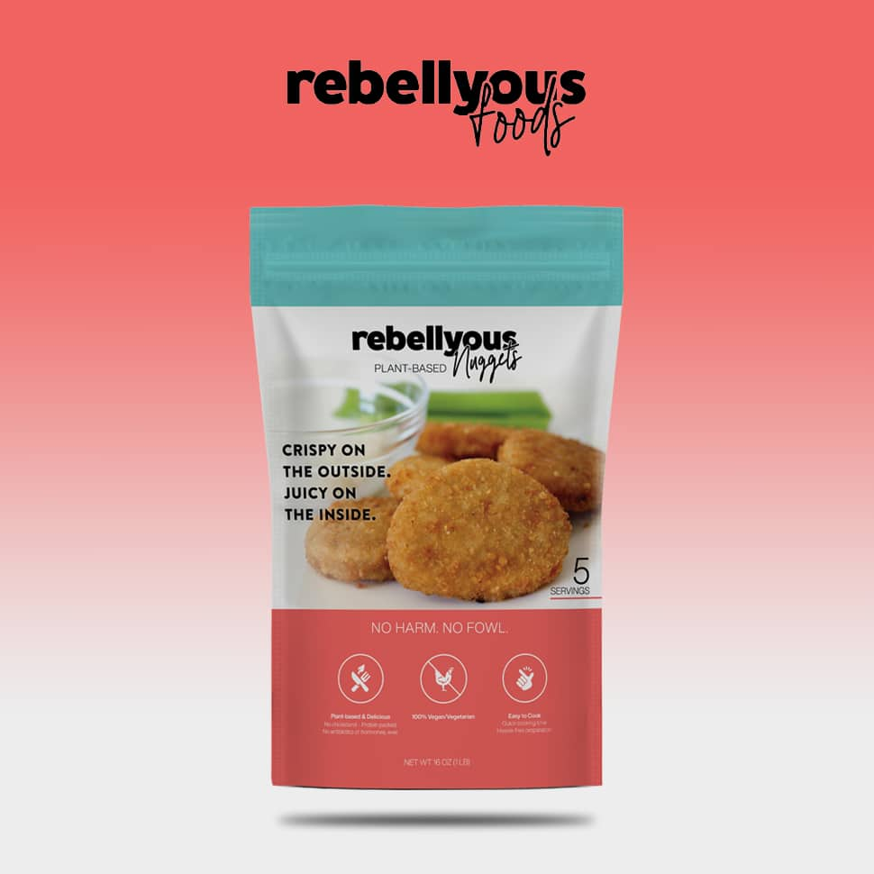 Rebellyous Foods Hits Retail, Aims to Grow Plant-based Chicken Tech