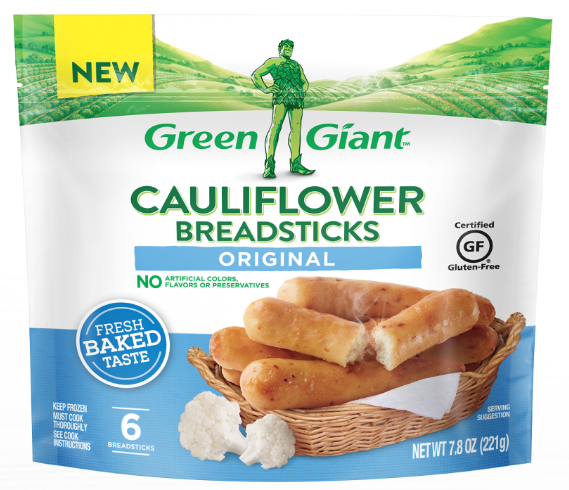Green Giant Introduces Cauliflower Breadsticks Nosh