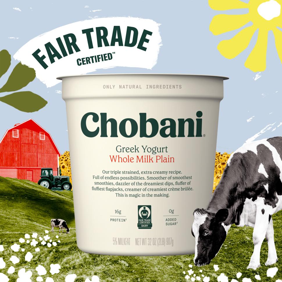 Chobani, Fair Trade Announce New Dairy Certification
